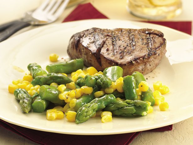 Gluten Free Asparagus and Corn with Honey Mustard Glaze