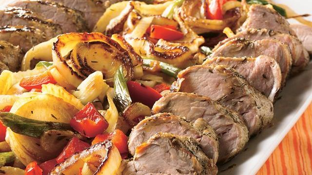 Savory Grilled Pork Tenderloins with Herbed Vegetables