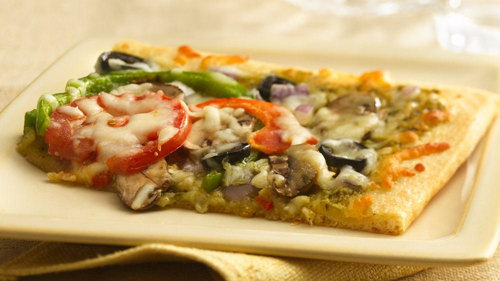Pesto Veggie Pizza