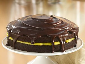 Chocolate-Orange&#32;Cake&#32;with&#32;Ganache&#32;Glaze