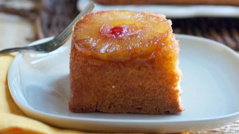Boozy Pineapple Upside-Down Cake