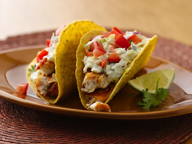 Spicy Fish Tacos with Fresh Lime Sauce