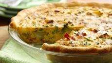 Broccoli, Potato and Bacon Quiche Recipe