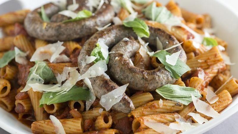 Lamb Sausage Pasta