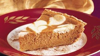Pumpkin-Cream Cheese Pie with Cookie Crust