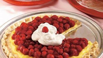 Vanilla Cream Cherry Pizza