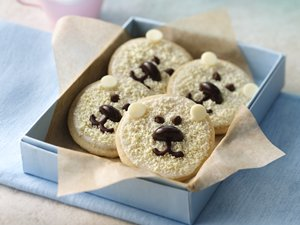 Baby&#32;Polar&#32;Bear&#32;Shortbread&#32;Cookies