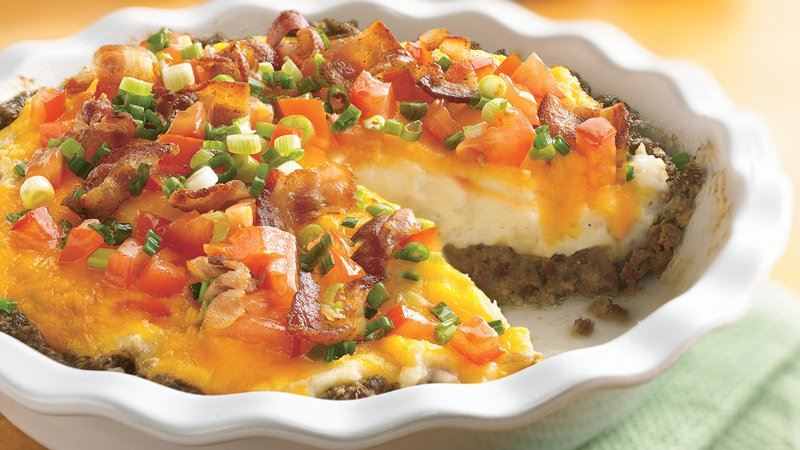 Ground Beef and Twice-Baked Potato Pie recipe from Betty ...