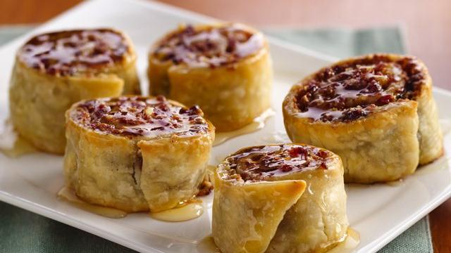 Cranberry-Orange Baklava Pinwheels