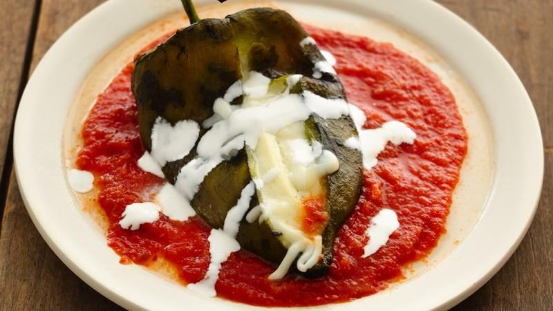 Stuffed Cheese Poblanos