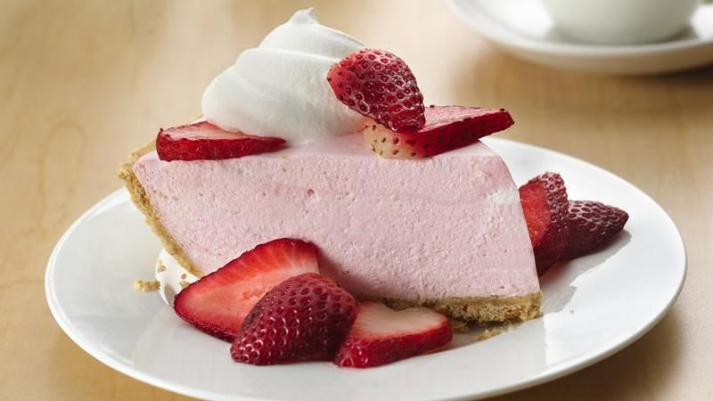 No-Bake Creamy Strawberrry Pie
