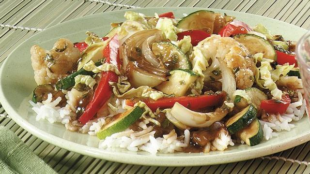 Chile and Basil Vegetable Stir-fry