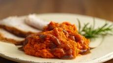 Mashed Sweet Potatoes with Cinnamon-Brown Sugar Sauce Recipe