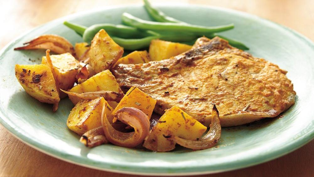 Roasted Rosemary Pork Chops and Potatoes