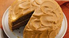 Mexican Chocolate Cake with Caramel Cream Frosting Recipe
