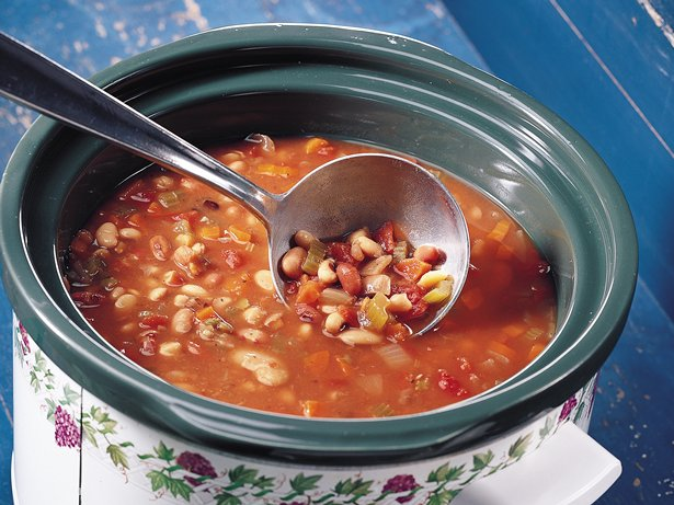 Slow Cooker Easy Multi-Bean Soup