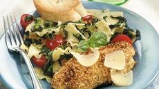 Parmesan Chicken with Pasta Rags Recipe
