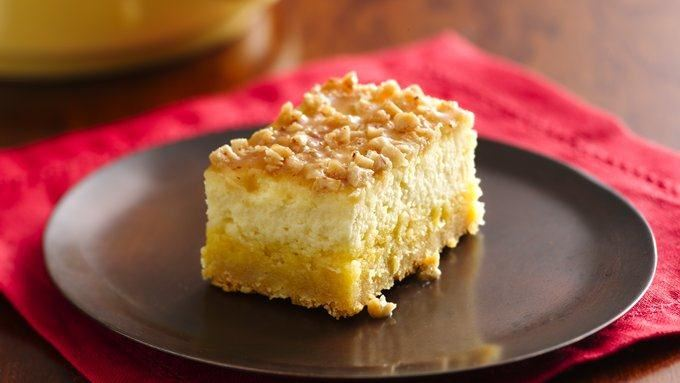 Cr me br l e cheesecake bars recipe from tablespoon for Award winning dutch oven dessert recipes