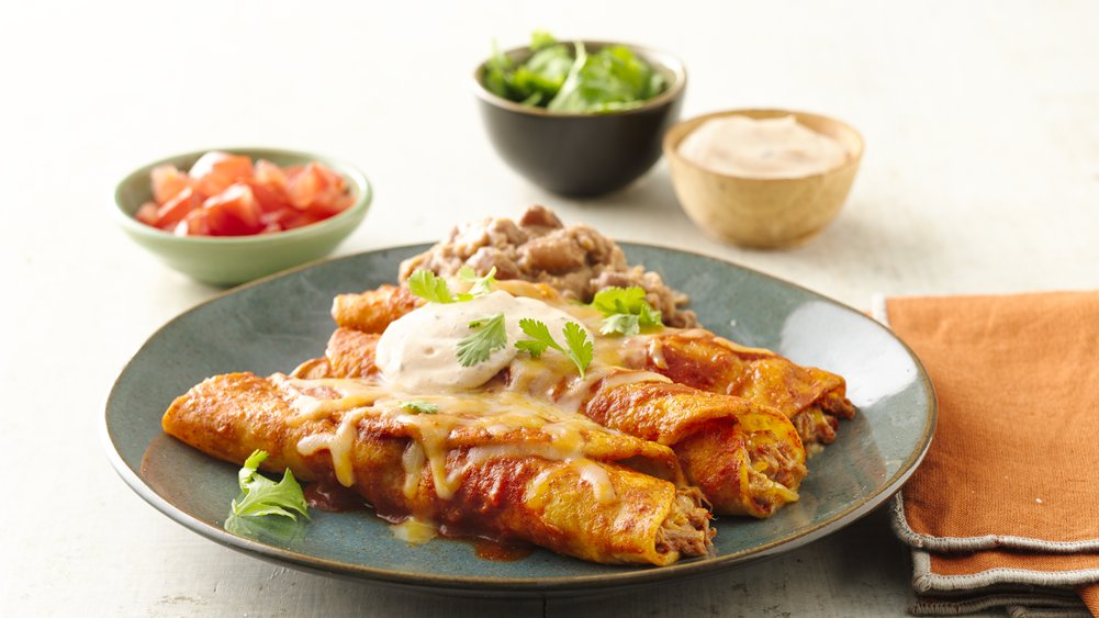 Easy Beef Enchiladas recipe from Pillsbury.com