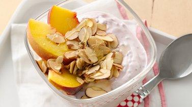 Raspberry-Peach Yogurt Cup