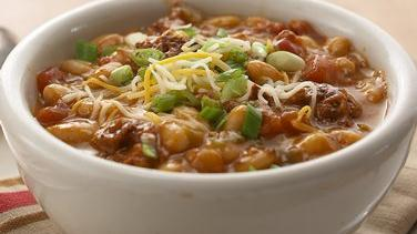 Cheesy Chorizo Chili