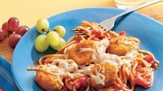Baked Chicken Nugget Spaghetti Recipe