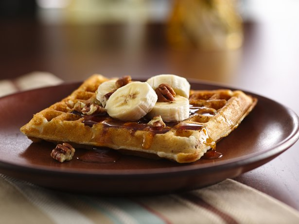 Gluten Free Banana Pecan Waffles