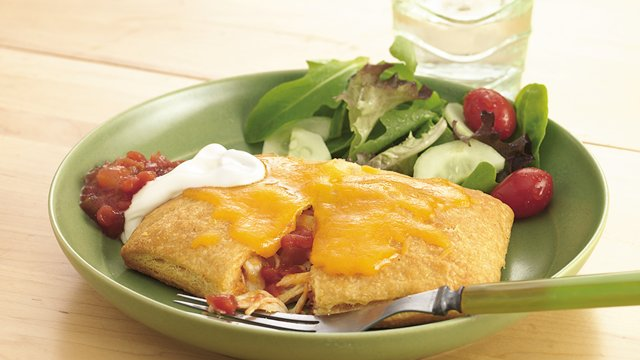Chicken and Cheese Crescent Chimichangas