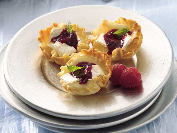 Raspberry-Brie Tarts