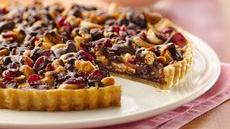 Chocolate-Cashew-Cranberry Tart Recipe