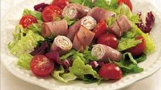 Ham and Garlic Cheese Roll Salad Recipe