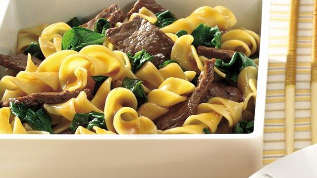 Gingered Beef and Noodles