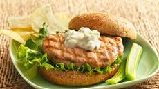 Buffalo-Blue Cheese Grilled Chicken Burgers Recipe