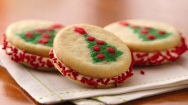 Christmas Tree Sandwich Cookies