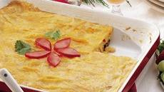 Black Bean and Corn Enchilada Egg Bake Recipe