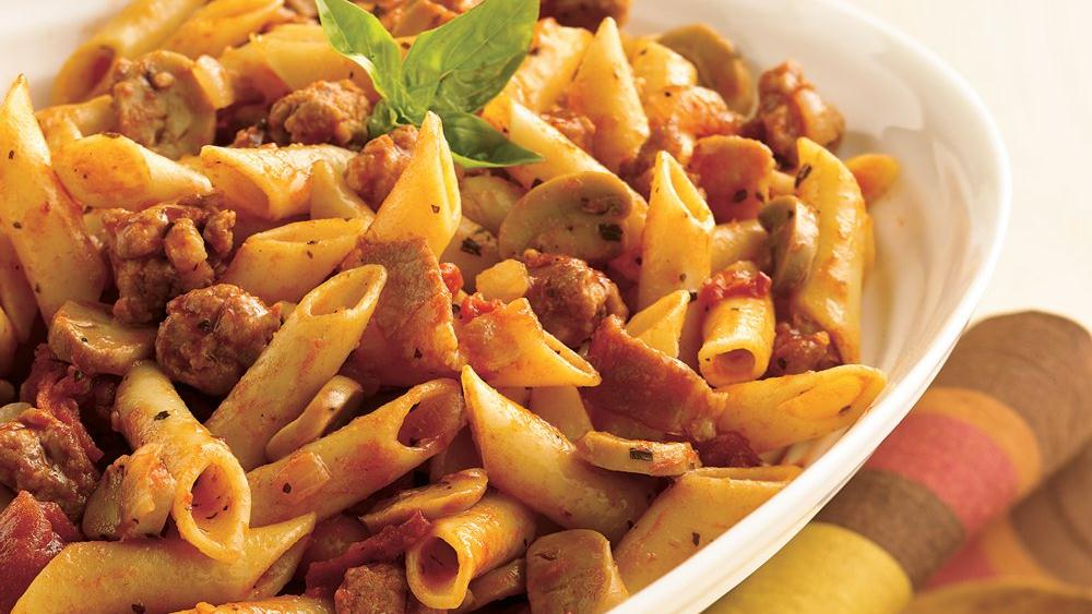 Meaty Mostaccioli