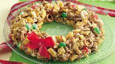 Festive Chex Mix® Wreath Recipe