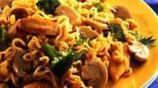 Mushrooms and Chicken with Ramen Noodles Recipe