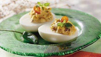 Hot Chile Deviled Eggs