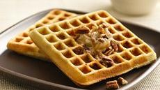 Pecan Cookie Waffles with Honey-Cinnamon Butter Recipe