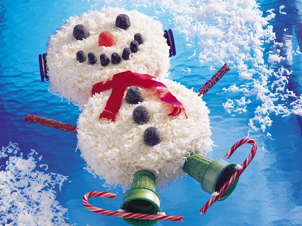 Snowman Coconut Cake