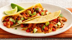 Gluten-Free Slow-Cooker Chicken and Bean Tacos
