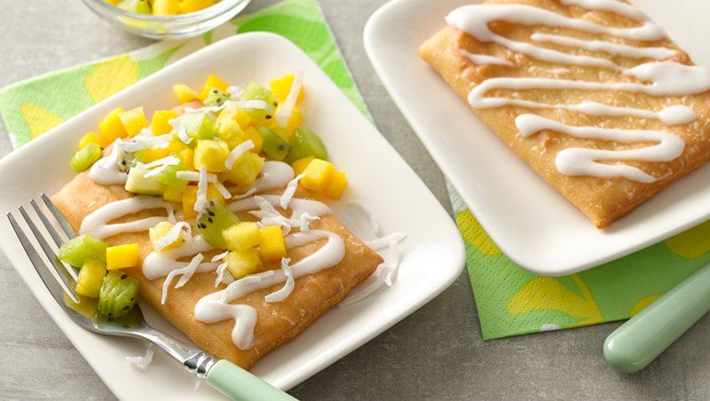 Fruit Salsa Topped Strudel