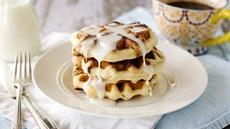Cinnamon Roll Waffles with Cream Cheese Glaze Recipe