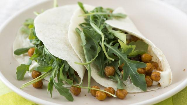 Spicy Chick Pea Tacos