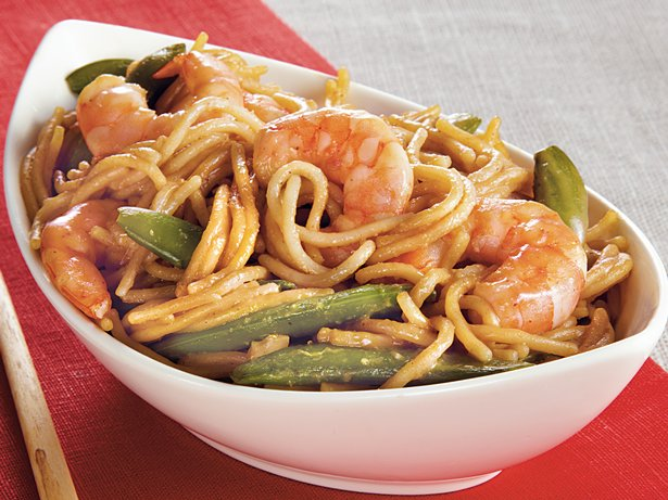 Shrimp n Sugar Peas Lo Mein