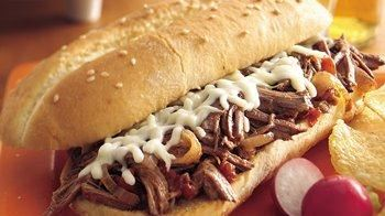 Slow-Cooker Italian Shredded Beef Hoagies