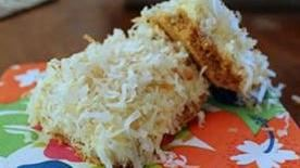 Creamy Lime Bars with Toasted Coconut
