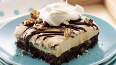 Turtle Brownie Ice Cream Dessert Recipe