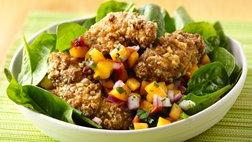Crispy Peach Chicken Salad